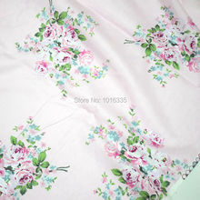 Hot Pink Big Flower Printing 100% cotton fabric meters china fabric suppliers