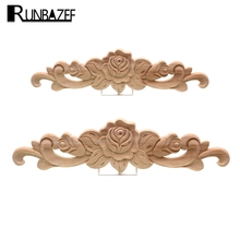 The Unpainted Wood Carving Stamp Applique Decorative Crafts Furniture Closet Door Frame(China)
