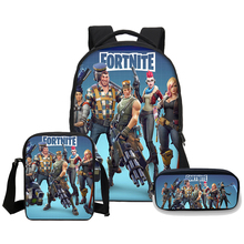 VEEVANV Brand Fortnite Battle Royale Printing School Backpacks Teen Fashion 3 Pcs Set Laptop Shoulder Bags Boys Bookbag Children