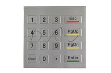 Metal matrix keypad IP65 waterproof industrial keyboard custom numeric keypad 4*4 keypads ATM vending machine keyboard