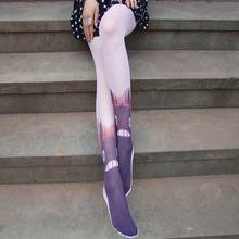 Buy Women Thin Tattoo Tights Printed Fancy Pantyhose Novelty Anti Hook Halloween Lolita Japanese Kawaii Stockings Patterned Tights