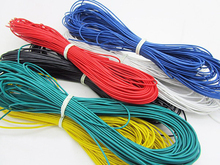 5meter Red+5meter Black Silicon Wire 28AWG Heatproof Soft Silicone Silica Gel Cable - Amin store