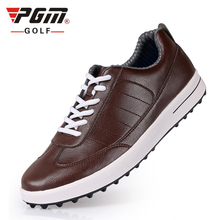 Men Golf Shoes Genuine Leather Breathable Ultra Light Brown Waterproof Sneakers Sport Golf Shoes Mens Zapatos Charol Hombre(China)