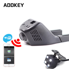 ADDKEY Car Dvr Mini Wifi Car Camera Dash Cam Registrator Video Recorder Camcorder Full HD 1080P Dual Lens Dvr Support App