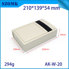 one piece szomk High quality abs material white color plastic wall mount electronics equipment 210*139*54mm(China)