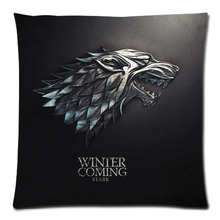 "Game of Thrones two side printed peach skin fabric cushion cover,Christmas/home/car/sofa/bed cushion decorative 18""x18"""