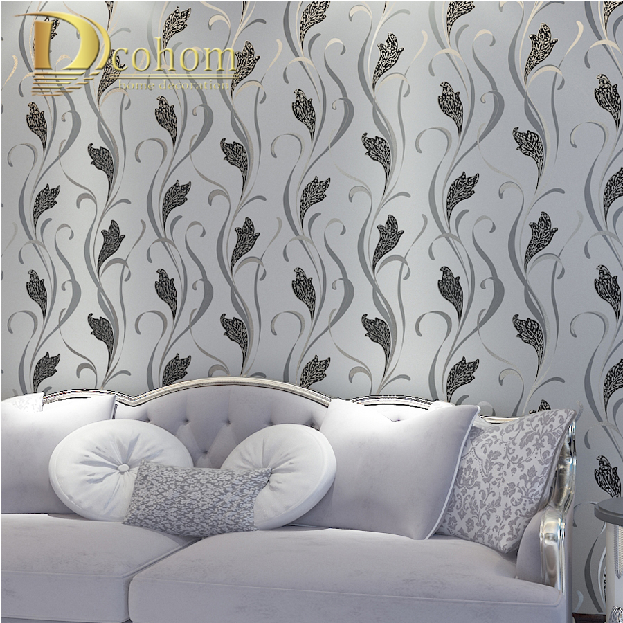Europe Luxury Gold Foil Wallpaper for walls 3d Embossed Buttercup Leaves Pattern Home Decor living room Wall paper Rolls<br>