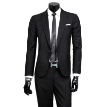 boutique high-end brand groom Men's fashion wedding dress suits blazers Men's pure color suit Men's formal business Black suits