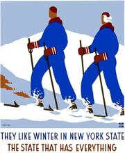 Winter New York State Ski Travel Tour Landscape Poster Vintage Retro Decorative DIY Wall Stickers Home Posters Art Bar Decor(China)