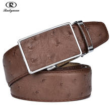 RADYMAN 2017 Ostrich Style Automatic Buckle Popular Cow Genuine Leather Men Belts Luxury High Quality Designer Cinto Masculino