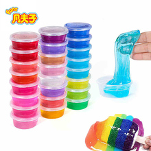 New Product magic slime 24 colors/set crystal mud Novelty Toy putty Practical Joke trick Toys fun Slime Cleaning Glue(China)