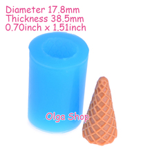 XYL178 38.5mm 3D Ice Cream Cone Mold - Handcraft DIY Mold Fondant, Resin Mold, Chocolate Mould, Wax Polymer Clay Mold