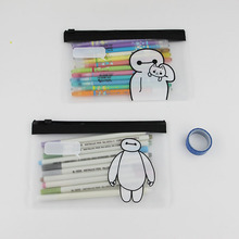 2 PCS Kawaii Stationery Cute Clear Big Hero Baymax Pen Bag Case Holder Storage Pencilcase School Supplies