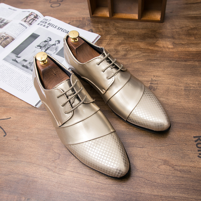 comfortable mens dress shoes luxury brand italian gold male footwear formal patent leather woven skin derby oxford shoes for men (38)