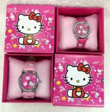 New 6 pcs Hello Kitty Children Cartoon Quartz  Children Wristwatch Watches With Boxes Party Favors Gift Toy B-58