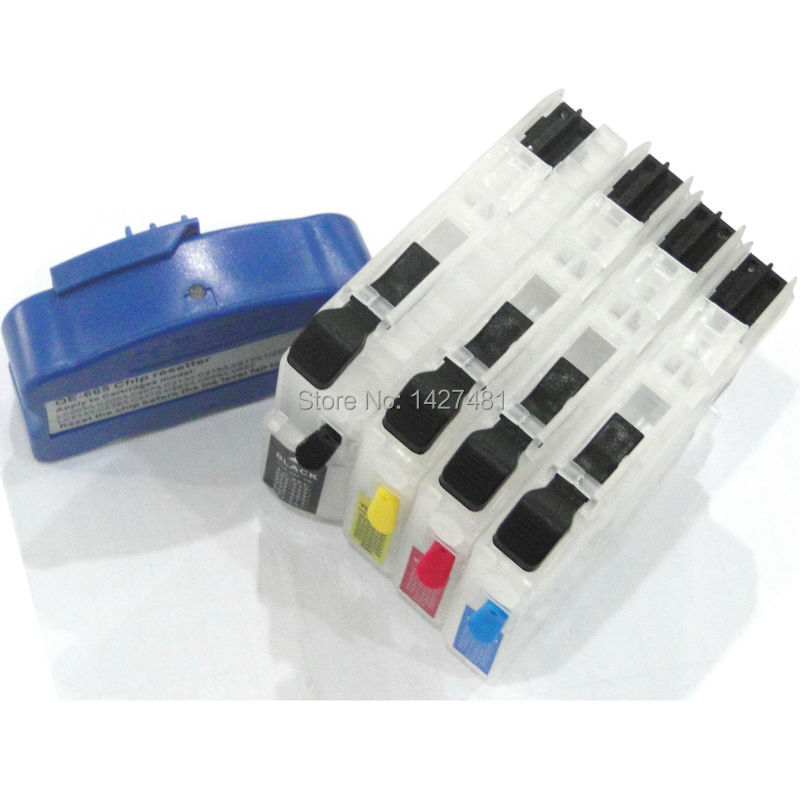 new for brother LC229xl LC233 LC235xl LC237xl LC239xl LC665xl LC667xl refillable ink cartridge with chip resetter<br><br>Aliexpress