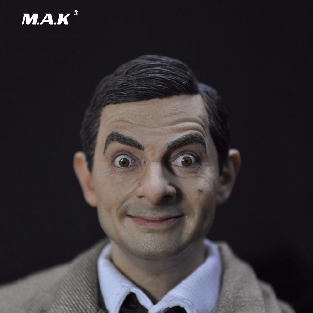Popular 1/6 Male Head Sculpts United Kingdom Humor Male Star Mr. Bean Rowan Atkinson Model Toys Gifts Collections<br>