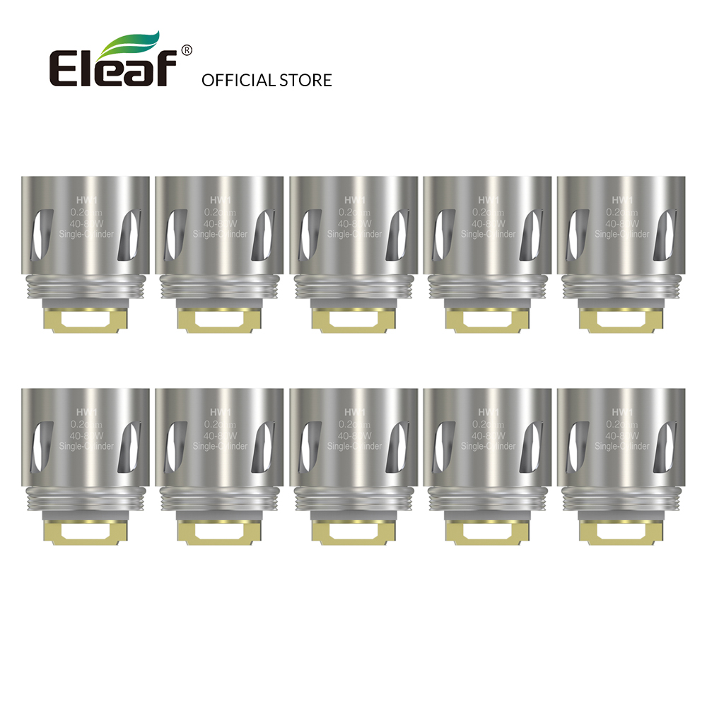 10pcs/lot Original Eleaf HW1 Single-Cylinder 0.2ohm Head HW Coil 40-80W vape coil Electronic Cigarette