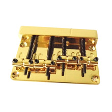 Gold Vintage Style Guitar Bridge New Professional Four-String Bass Bridge Guitar Parts(China)