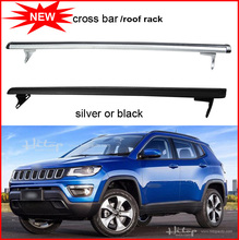 car carrier rack luggage bar cross beam for jeep Compass 2017 2018, silver & black,hot sale in market.Asian free shipping.(China)