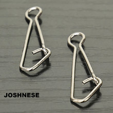 JOSHNESE Brand New 50pcs/pack QL Hooked Snap Swivel Stainless Steel Fishing Swivels Hook Lure Connector Fish Tackle