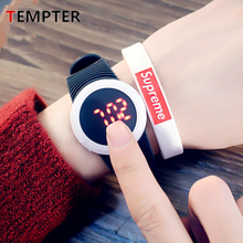 2017 Candy Color Men's Women's Watch Rubber LED kids Watches Bracelet Digital Sports Wristwatch for student Reloj boy girl gift(China)