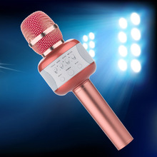 Microphone Professional Wireless Handheld Karaoke Microphone Bluetooth Speakers Studio For Singing system Party KTV Amplifier(China)