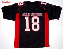 Mean Machine Sandler #18 Paul Crewe The Longest Yard Football Jersey Black S-XXXL(China)