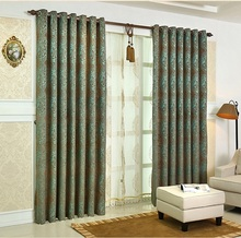 european style custom made jacquard sheer window screening drape hook style rod grommet  tulle fabric blackout curtain