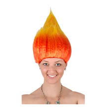 Halloween decorations Flame wig 4 Color Halloween decorations wigs Wizard wig For April Fool 's Day  2017 New Arrive
