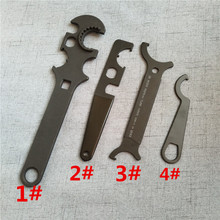 Multi Tool Heavy Duty Gun Smithing Rifle Wrench For AR15 M16 Castle Nut .223 Collapsible Stock Install Removal(China)
