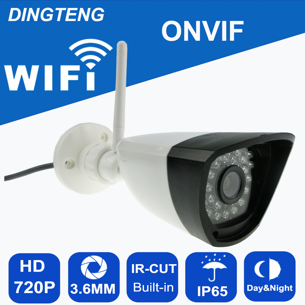 MINI WIFI IP Camera 720P 1.0MP Bullet Waterproof IP65 Night Vision Outdoor Security Camera ONVIF P2P CCTV Cam with TF card slot<br>