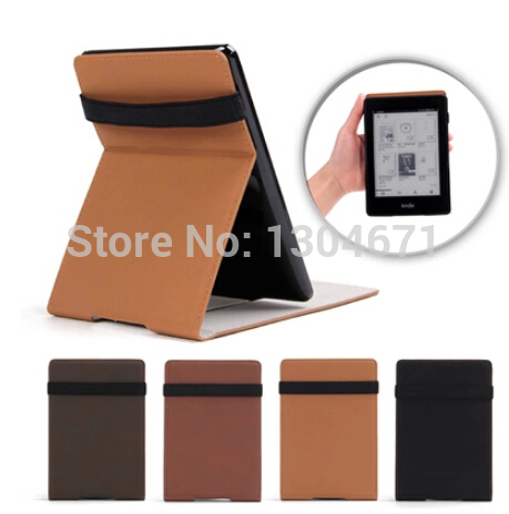 Ultra-slim PU Leather Kindle Paperwhite Case pouch cover jacket for Kindle Paperwhite 6 inch Smart cover 4 color free shipping<br>