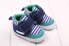 Fashion Brand Newborn Baby Boys Kids Girl First Walkers Shoes Infant Toddler Strip Sports Sneakers Soft Boots Newborn Booties