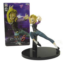 18CM Dragon Ball Z Android No.18 Scultures Big banpresto figure colosseum Action Figure PVC Collection figures toys Model Gift(China)