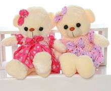 High quality Low Price Plush Toys Size 45CM Wear dress teddy  Embrace Bear Doll /Lovers/Christmas Gifts Birthday Gift