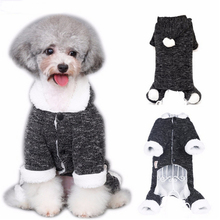 Best Winter Warm Dog Cat Hoodie Fleece Lined Coat Puppy Kitten Christmas Sweater Jumpsuit Kitty Clothes Apparel Pet Costume