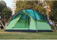 New arrivals 3-4 persons Green Forest camping tent double 210D Oxford thick cloth Automatic opening outdoor tent 215 * 215 * 145
