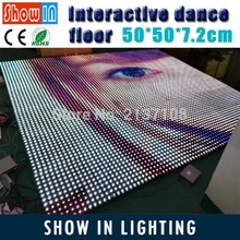 Free Shipping 12*12 Pixel Bar 50*50CM DJ Disco Party Wedding Bar Stage Lighting LED Interactive Dance Floor With Flightcase(China)