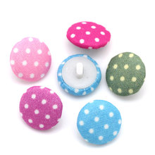"Hoomall 200PCs Acrylic Buttons Sewing Fabric Covered Round Mixed 14mm( 4/8"")Dia. Clothes Accessories"