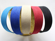 "2 pcs 38mm(1-1/2"") Alice Suede Look Fabric Hair Band Headband Korean Hairband(China)"