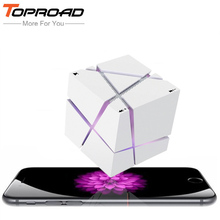 TOPROAD Portable HIFI Bluetooth Speaker LED Cube Altavoz Stereo Speakers Super Bass Caixa Se Som Sound Box Hand Free for Phones(China)
