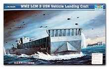 Trumpeter 1/72 scale model 07213 US Navy LCM3 armored vehicle landing craft(China)