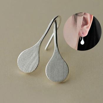 1pair Unique Fashion 925 Silver Color Water Tear Drop Fashion Retro Vintage Earrings For Women Wholesale Valentine