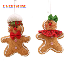 1pcs/lot Gingerbread Man Christmas Tree Hanging Ornaments Xmas Festival Children's Gifts Pendant Home Decorators SD358(China)