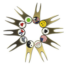 10 Types of Golf Ball Markers Unique Designs with Magnetic Antique Brass Golf Divot Repair Tool - Golf  Repair Kit