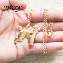 2017 Cute Poodle Teddy Necklace Dog Animal Pendant Gold Silver Plated Jewelry For Women Male Female Girls Ladies Kids Boys N011