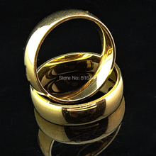 New Arrival High Quality 10pcs Top 316L Stainless steel Real 18K Gold Women Mens Arc Rings for Wedding Engagement A