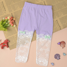 Kids Girls Modal Lace Floral Ballet Leggings Capris Pants Panties Summer Style 2-7Y(China)