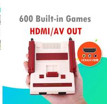 HD HDMI Out Retro Classic Handheld Game Player Family TV Video Mini Game Console Built-in 600 Games For NES Yellow Card Games(China)